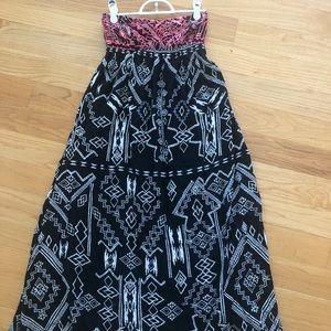 Billabong Strapless Maxi Dress Size S
